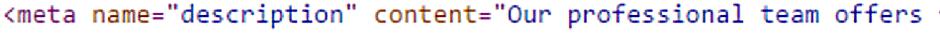 Meta Description source code up close