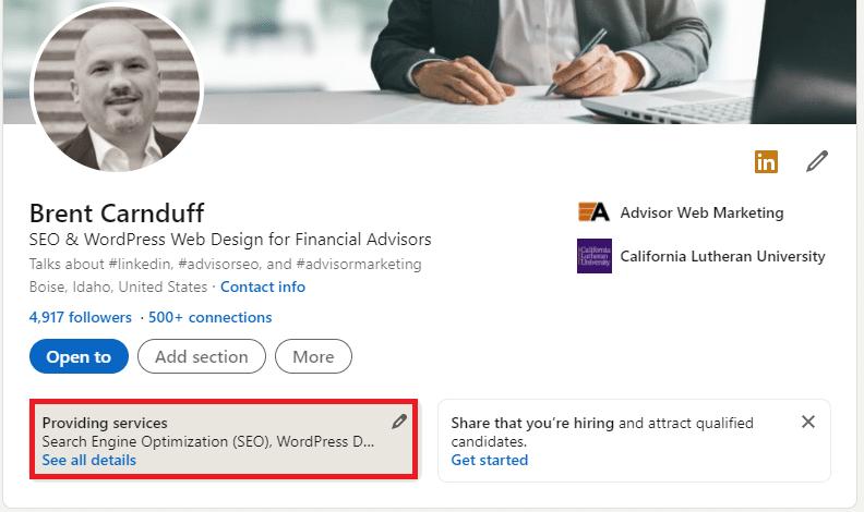 LinkedIn Marketing for Advisors