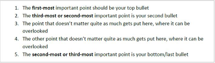 Bullet Points for easier reading